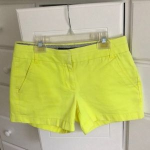 "J Crew 4"" Cotton Chino Shorts Size 2"